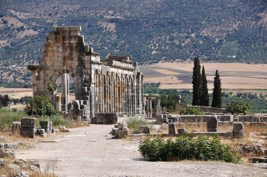 Die romanischen Ruinen von Voloubilis