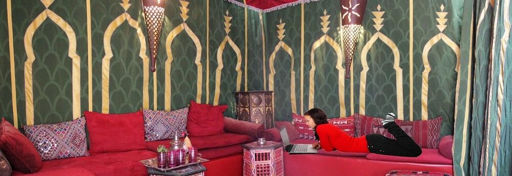 Berberzelt im Riad in Marrakesch La Maison Nomade