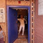Eingangstüre des Riad La Maison Nomade in Marrakesch