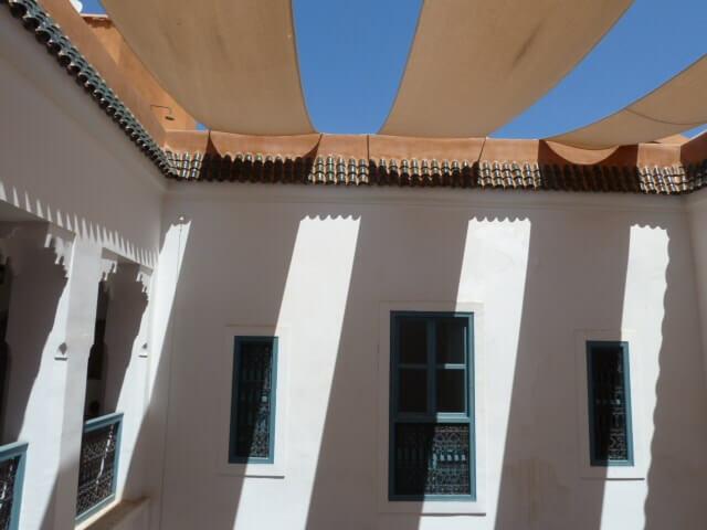 Sicht auf Innenhof eines Riads zum Kauf in Marrakesch