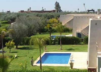 Villa Marrakesch mit Blick auf Poolanlage