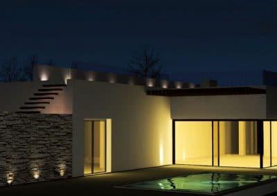 Villa Marrakesch bei Nacht