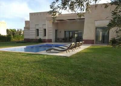 Villa Marrakesch Garten mit Pool