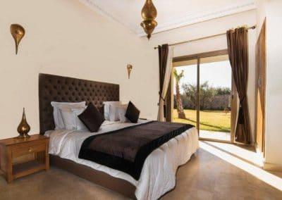 Schlafzimmer einer Villa Marrakesch
