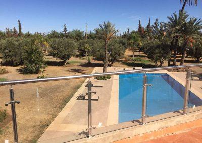 Blick auf Pool Villa Marokko