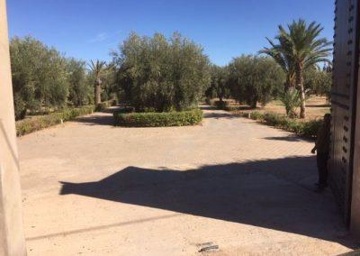 Einfahrt Villa Marokko