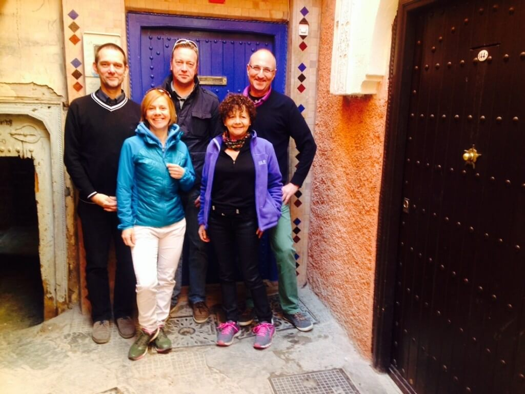 Marraksch Marathon 2015 vor dem Riad La Maison Nomade in Marraesch