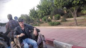 Mann in Kutsche