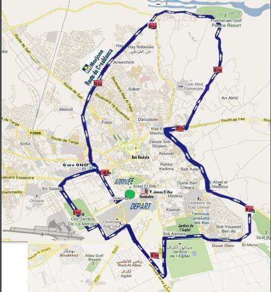 Plan Marrakesch Marathon