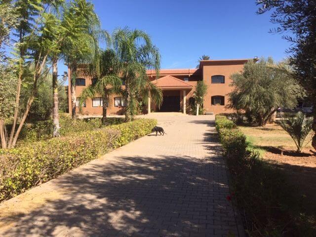 Zufahrt zur Villa in Marokko