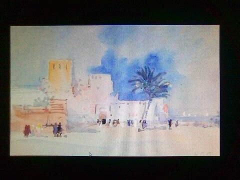 Zeichnung eines Gastes vom Hotel in Marrakesch: die Medina Mauer