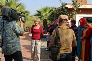 Riad La Maison Nomade mit dem MDR auf der Safranfarm