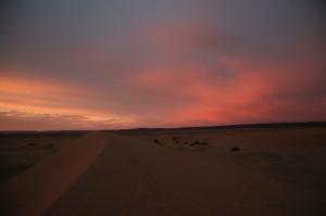 Wueste Sonnenuntergang