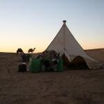 Übernachtung im Nomadezelt in der Wüste Erg Chegaga