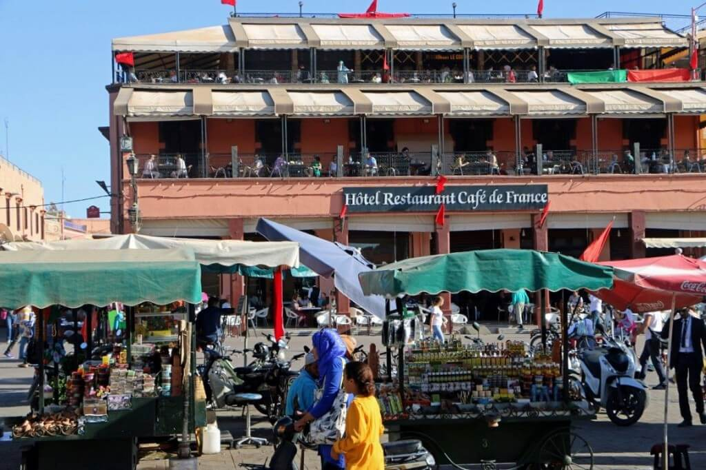 Wissenswertes-das-cafe-de-france-djema-el-fna-marrakesch