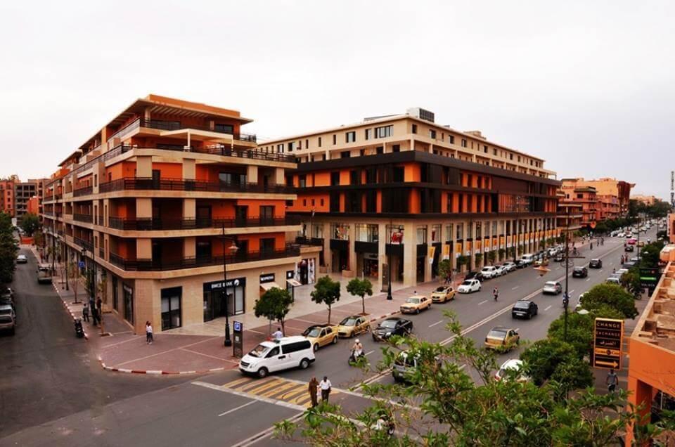 Ecke Mohamed 5 und Rue Liberte im Gueliz-Viertel in Marrakesch