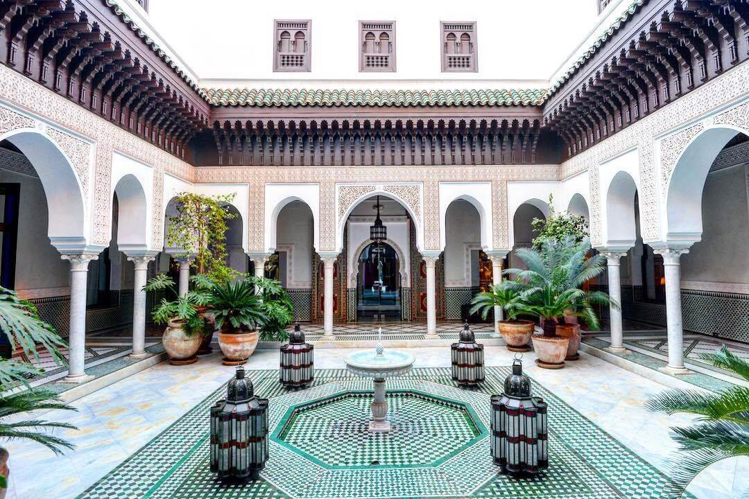 Innenhof Hotel La Mamounia Marrakesch