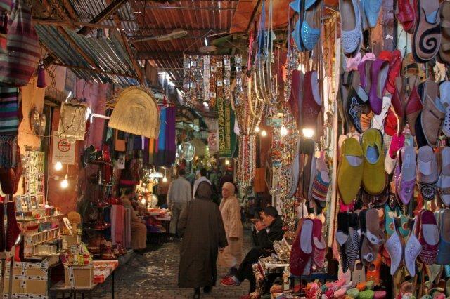 Einkaufsparadies der Basar von Marrakesch