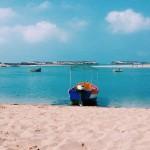 Lagune Oualidia zwischen El Jadida und Safi am Atlantik