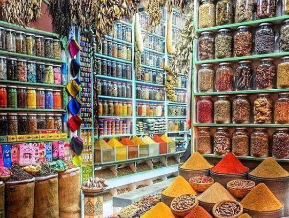 Städtereise Marrakesch/Gewürzapotheke in Marrakesch