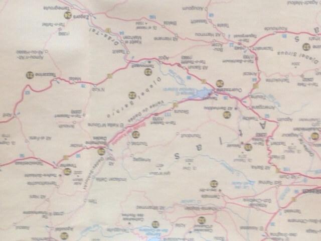 Landkarte Hoher-Atlas - mit dem Hotel La Maison Nomade in den Hohen Atlas