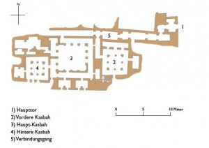 Grundriss der kasbah-tamnougalt