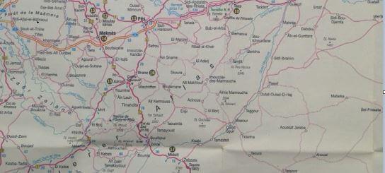 Landkarte Mittlerer-Atlas