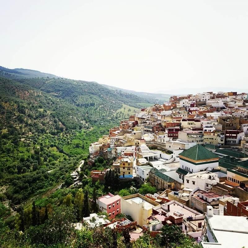 Wallfahrtsort Moulay Idriss im mittleren Atlas