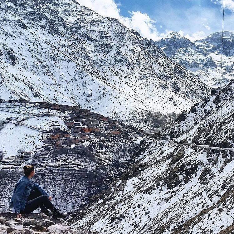 wandern im hohen atlas/imlil-bergtal