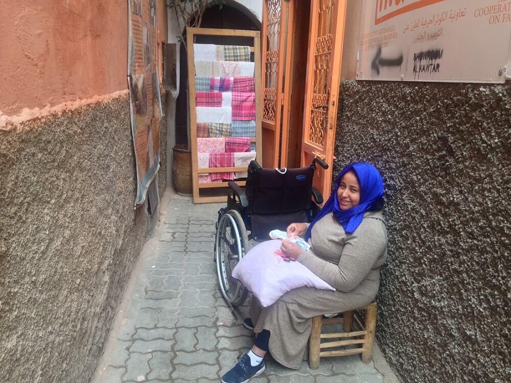 Eingang zur Boutique Kawtar Al Nour in Marrakesch Medina