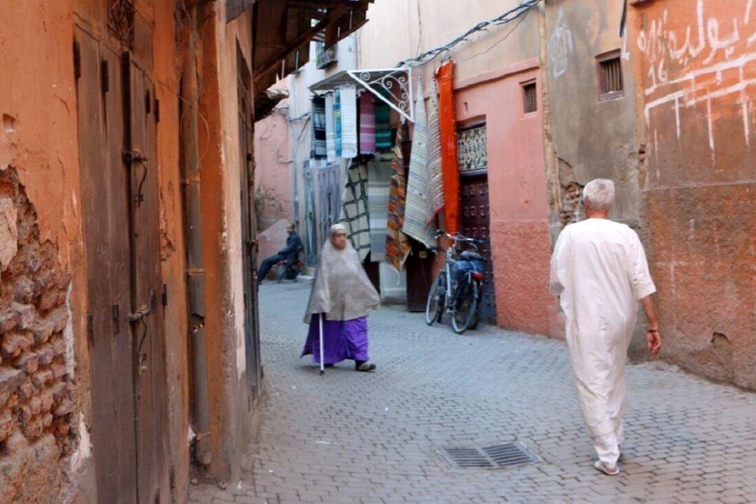 Die Farben Marokkos: weiß