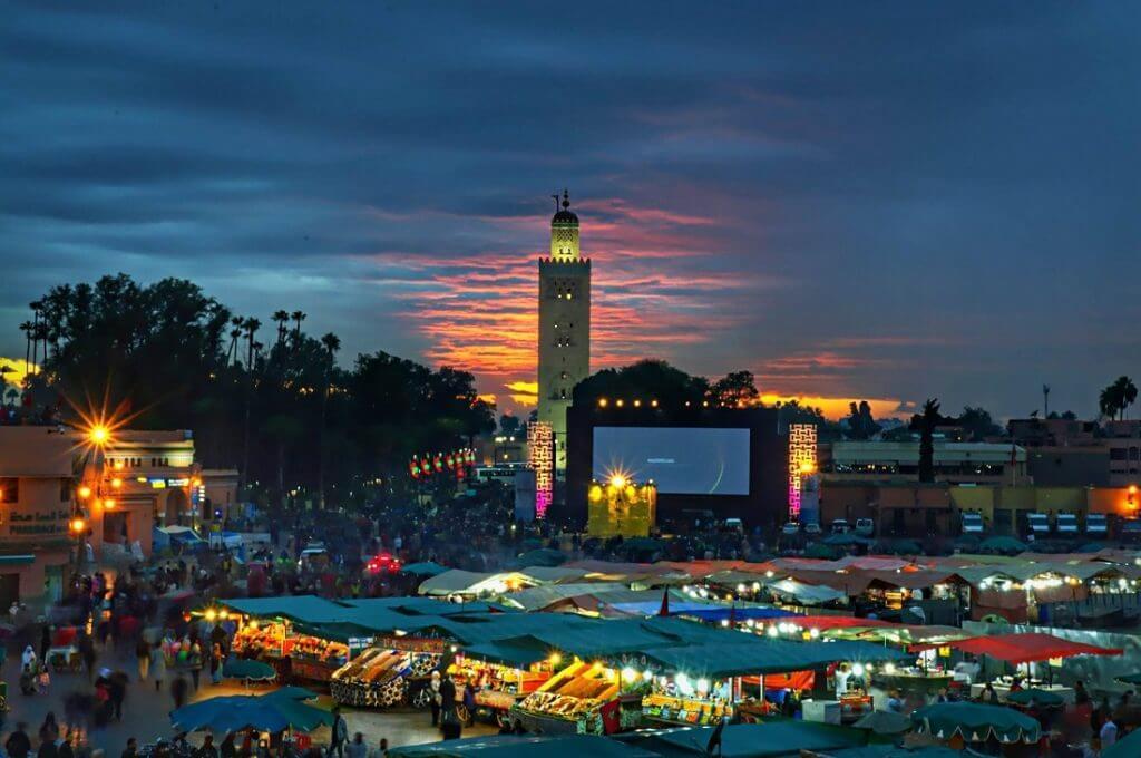 Urlaub in Marrakesch - Djema el Fna - Filmfestival