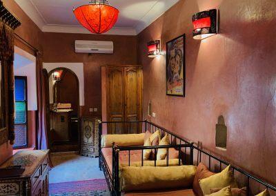 Hotelzimmer in Marrakesch mit zwei Betten