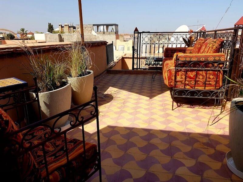 Dachterrasse in Marrakesch