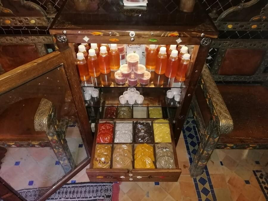 Marokkanische Produkte, Bio  Arganöl, Amlou, Gewürze